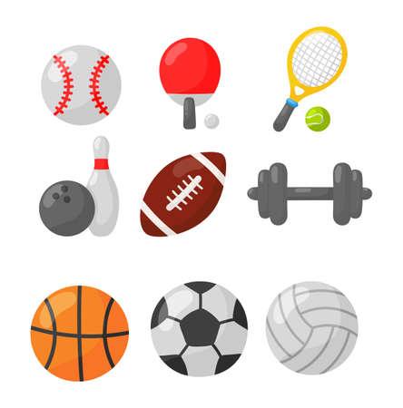 sport icon isolated on white background. illustration vector Ilustração