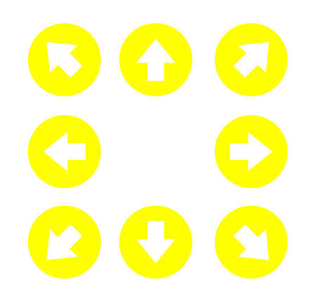 White arrows icons set Isolated on White background. vector illustration.