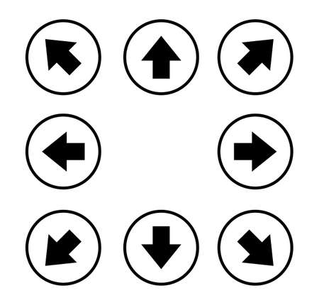 black arrows icons set Isolated on white background. vector illustration.