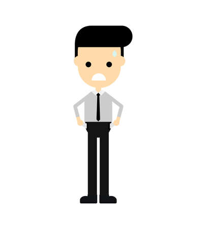 Businessman sad. no money. get fired Concept business isolated on white background. Cartoon character. vector illustration. Standard-Bild - 134716806