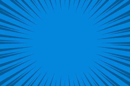 comic blue background Cartoon Style. Sunlight. Vector Illustration.