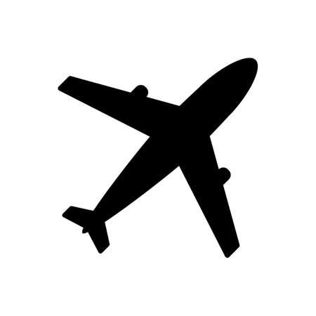 airplane Icon Isolated on white background. Vector Illustration. Archivio Fotografico - 134751304