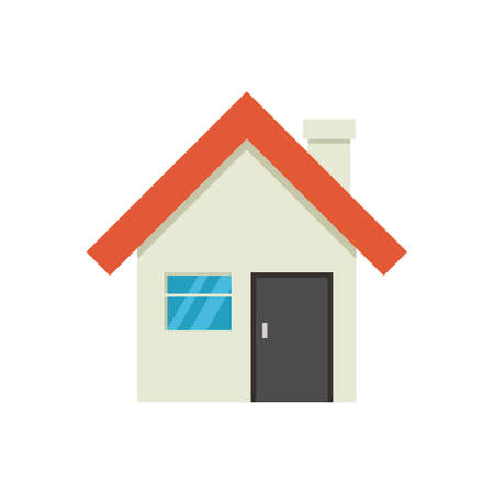 cute house icon isolated on white background. vector Illustration.