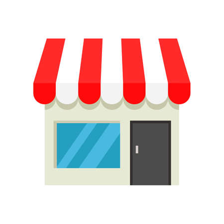 store icon isolated on white background. illustration vector.