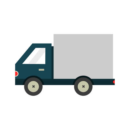 truck icon isolated on white background. illustration vector.