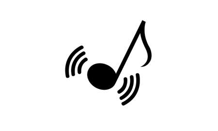 Musical Notes.Sound media concept illustration pictogram.flat vector icon for musical apps and websites.