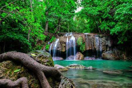wonderful thailand: Erawan waterfall in Thailand.