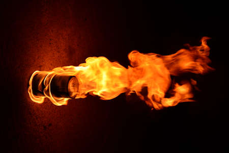 igniting: Fire burn at home Stock Photo