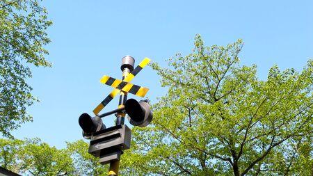 Railroad crossing 写真素材
