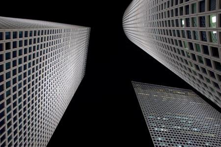 The night city, Azrieli towers, Tel-Aviv, Israel