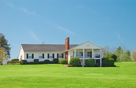 Typical american standalone rural house