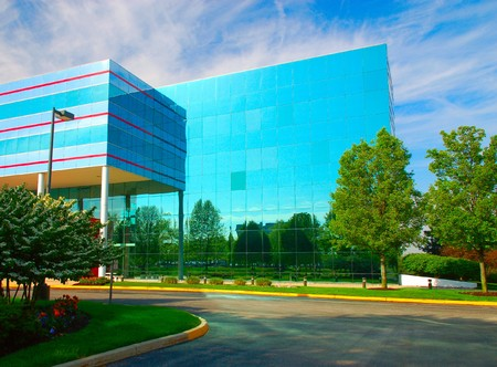 Business center in a small american town