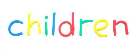 Plasticine word Children photo