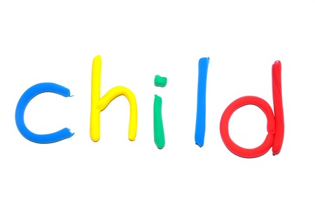 word: Plasticine word Child