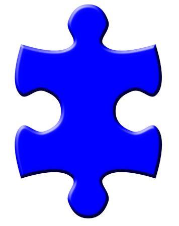 jigsaws: Un pezzo di puzzle isolato Archivio Fotografico