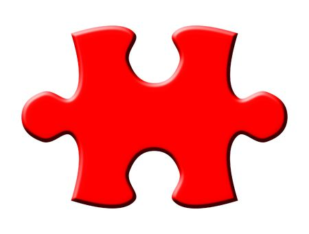 One isolated puzzle piece Stock Photo - 4649519