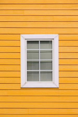 One window on wood wall photo
