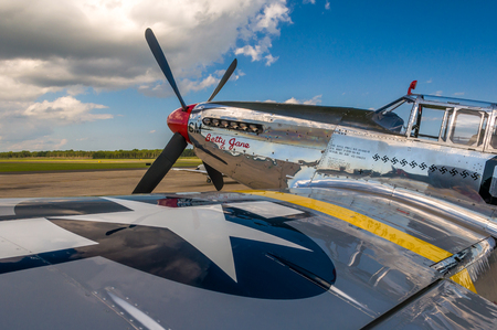 Fabulous fighter P-51 Mustang in a museum
