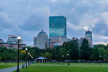 john hancock: Boston cityscape Stock Photo