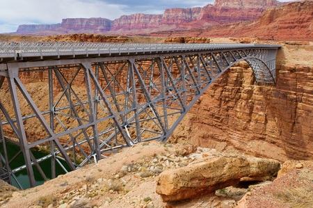 national historic site: Bridge over canyon in Arizona