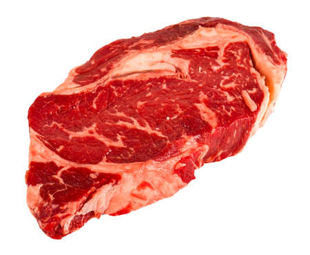 Ribeye steak isolated on white background