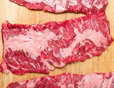the skirt: Skirt steak Stock Photo