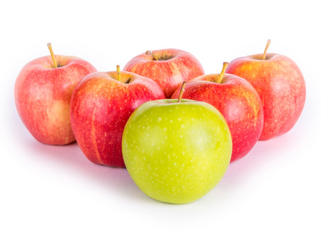 Red apples with the one green photo