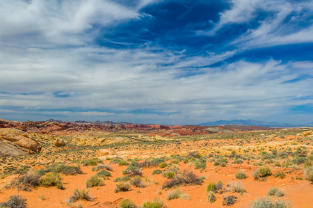nevada: Stone desert at USA West Stock Photo