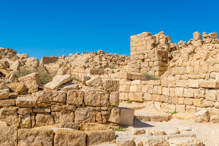 Shivta: ancient city in Negev desert 写真素材