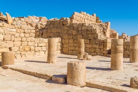 Shivta: ancient city in Negev desert Stock Photo
