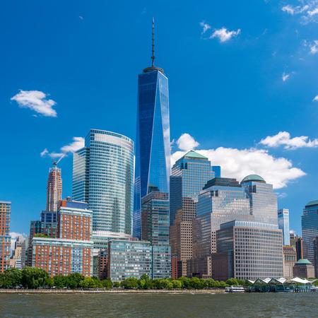 Manhattan Downtown panorama with World Trade Center