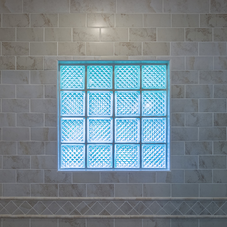 tiled wall: Window in the tiled wall