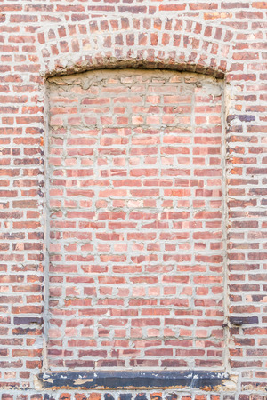built: Blind window in the old brick wall
