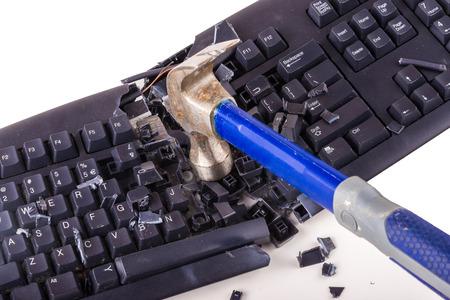 Destroyed keyboard which will never work again Reklamní fotografie - 50015754