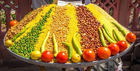 street life: Food at India street market Stock Photo