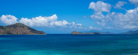 virgin islands: Calm water of tropical bay at US Virgin Islands