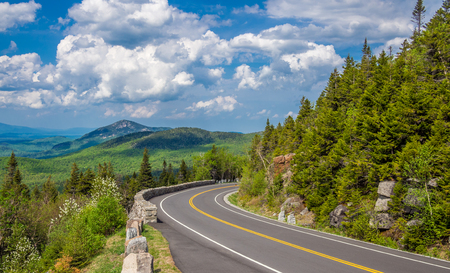 curve road: Mountain road in Adirondack High Peaks