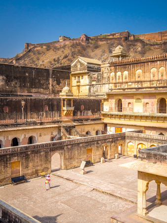 rajasthan: Amer (Amber) Fort in Jaipur, Rajasthan, India Stock Photo