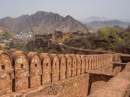 jaipur: Amer (Amber) Fort in Jaipur, Rajasthan, India Stock Photo