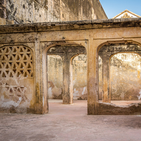 amber fort: Amer (Amber) Fort in Jaipur, Rajasthan, India Stock Photo