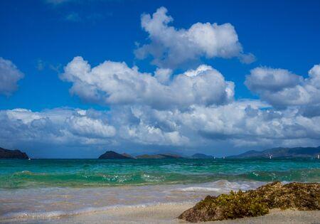 virgin islands: Stock photo of tropical beach captured at US Virgin Islands