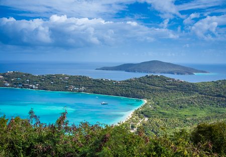 drakes: Aerial view at Magens Bay from the viewpoints of St. Thomas island Stock Photo