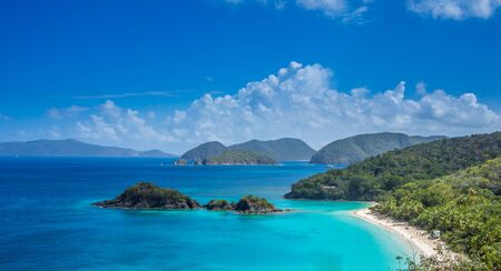 drakes: Stock picture of the tropical bay captured at Caribbean islands