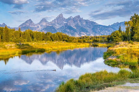 Grand Tetons view from Schwabacher Landing