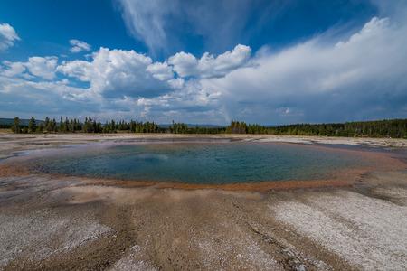 Grand Prismatic Pool - the landmark of Yellowstone National Park