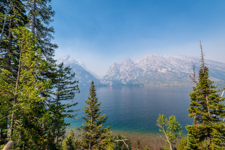 Jenny Lake View from overlook at Grand Teton National Park
