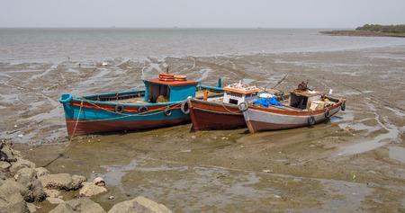 ship wreck: abandoned boat finish its life on the land