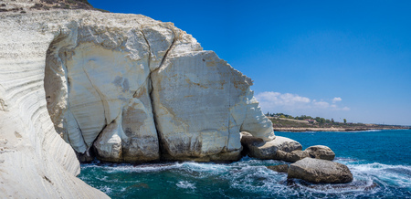 israeli: Rosh HaNikra - Israeli National Park Stock Photo