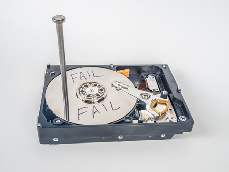 This hard drive never will work again Banque d'images