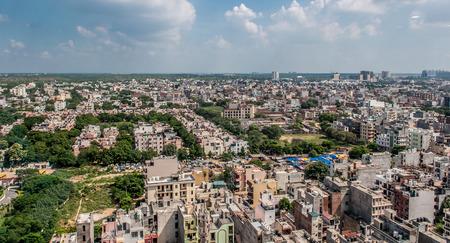 Panorama aéreo de la típica gran ciudad asiática Foto de archivo - 66579579